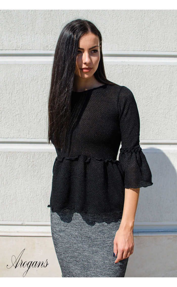 Кокетна блузка от плетиво Cherry