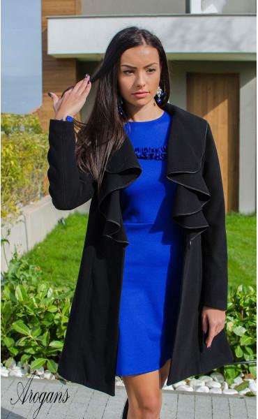 Кокетно палто от кашмир с богата яка Glory_15868