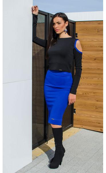 Спортно елегантна блузка със закачлив дизайн DK_15897