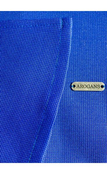 Рокля Aquamarine в наситено синьо и широко ръкави_15921
