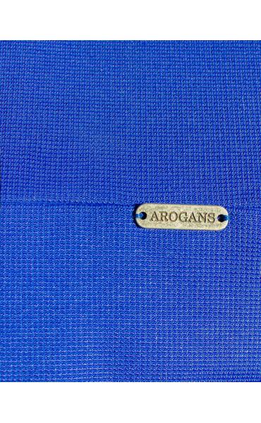 Синя елегантна пола Aqua от фино трико и висока талия_15922