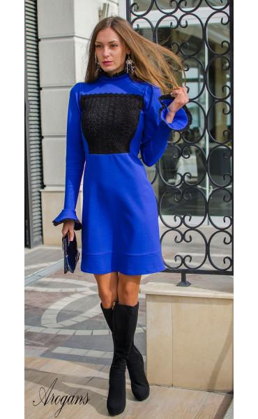 Официална рокля в кралско син цвят Blue bijoux_15940