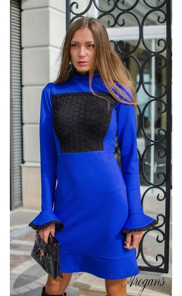 Официална рокля в кралско син цвят Blue bijoux_15941