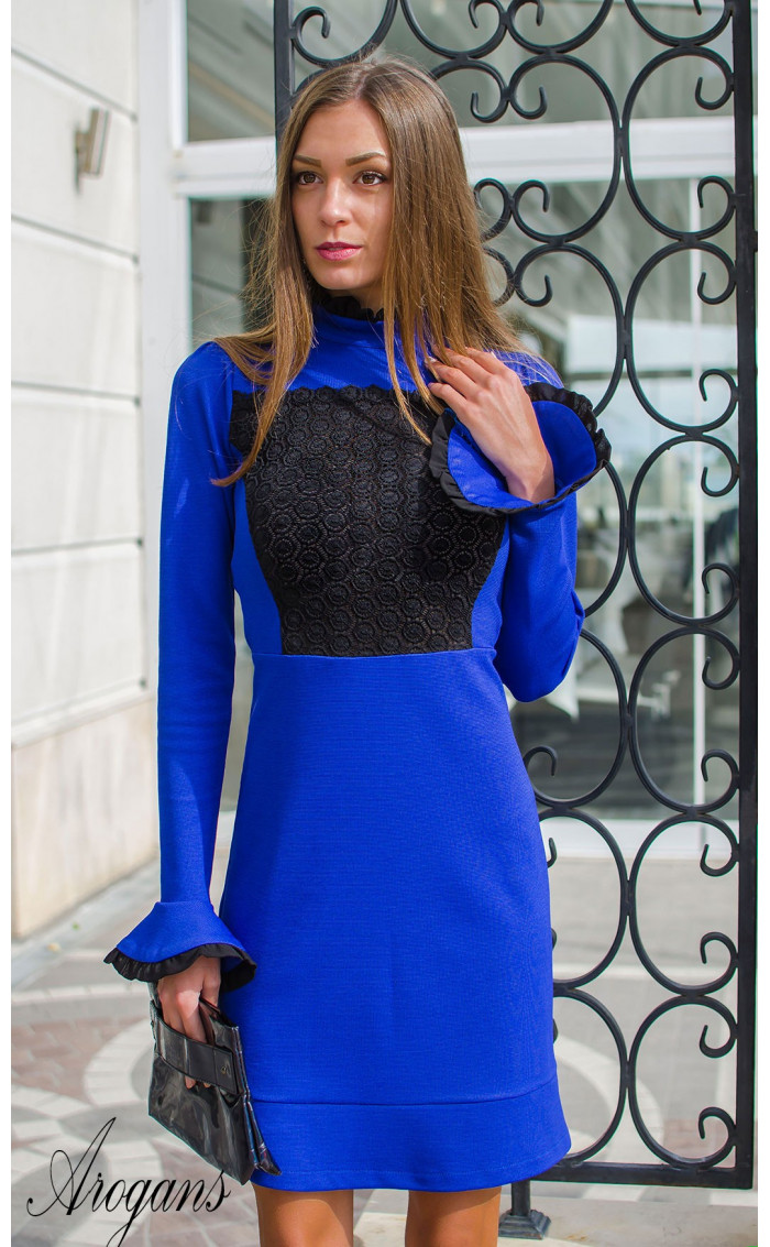 Официална рокля в кралско син цвят Blue bijoux