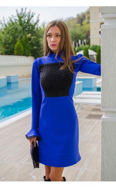 Официална рокля в кралско син цвят Blue bijoux_15944