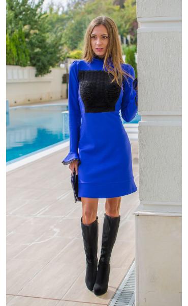 Официална рокля в кралско син цвят Blue bijoux_15945