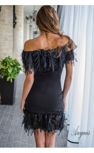 Мини клубна рокля в черно Miss Burlesque_16160