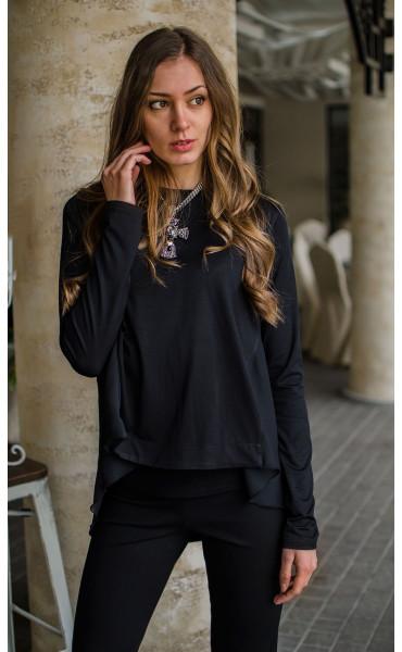 Спортно елегантна блузка с раздвижен гръб _16330