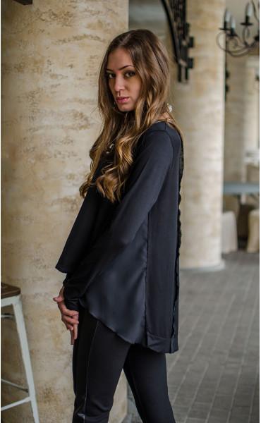 Спортно елегантна блузка с раздвижен гръб _16346