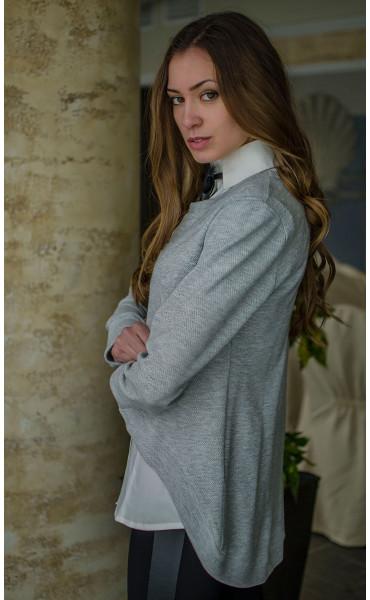 Сет риза без ръкав и спортна блузка от плетиво