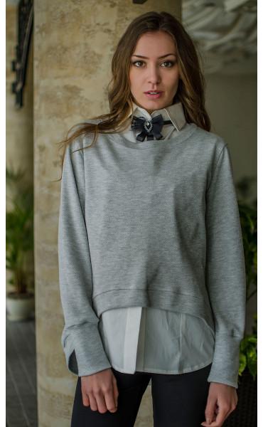 Сет риза без ръкав и спортна блузка от плетиво_16372