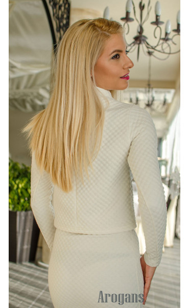 Комплект в бяло пола с топ _16412