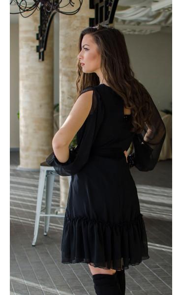 Ефирна рокля в черно Dark side_16438