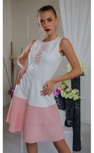 Рокля с раздвижен дизайн в два цвята Pink candy_16563