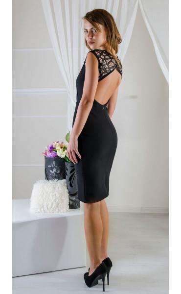 Елегантна рокля с ефектна мрежа_16571