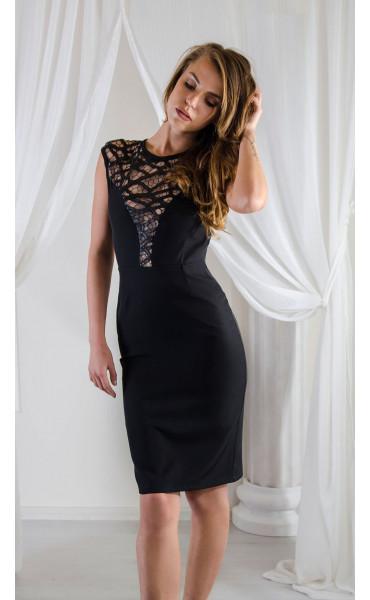 Елегантна рокля с ефектна мрежа_16574