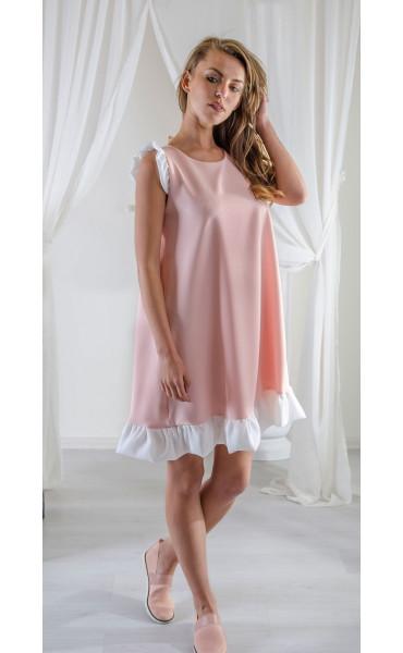 Свободна рокля с бели къдри_16594
