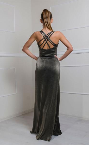Дълга рокля Bronze Lady_16619