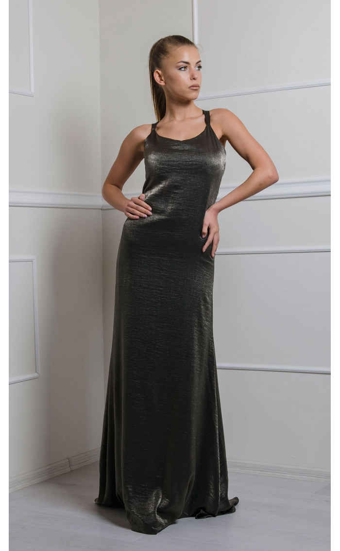 Дълга рокля Bronze Lady