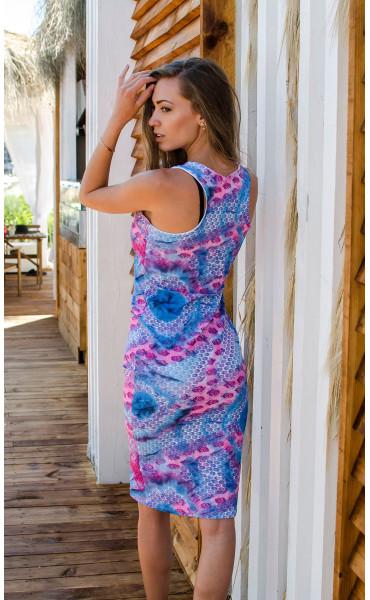 Спортно елегантна рокля в модерна разцветка _16652