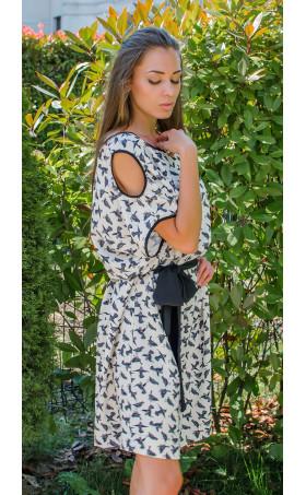 Ежедневна свободна мини рокля Colibri