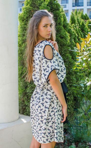 Ежедневна свободна мини рокля Colibri_16692