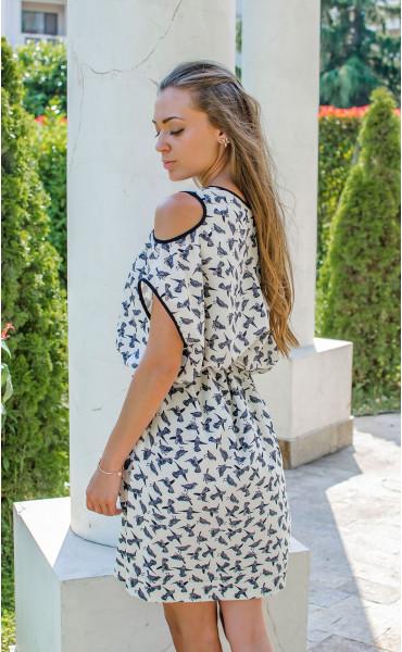 Ежедневна свободна мини рокля Colibri_16693