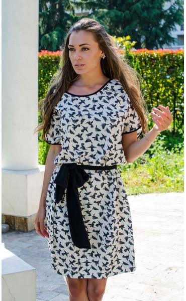 Ежедневна свободна мини рокля Colibri_16694