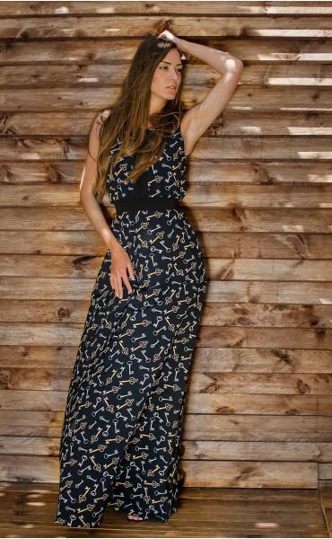 Дълга рокля със свободна долна част Pandora_16696