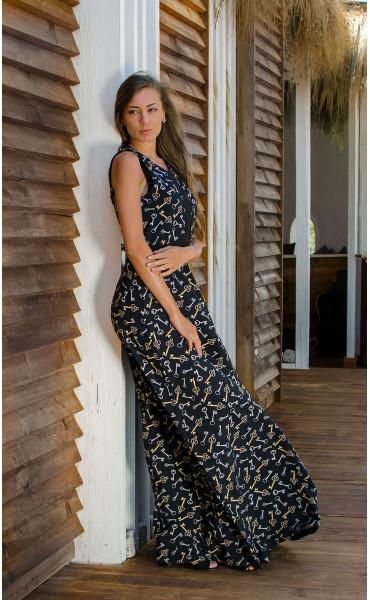 Дълга рокля със свободна долна част Pandora_16699