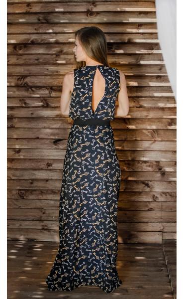 Дълга рокля със свободна долна част Pandora_16713