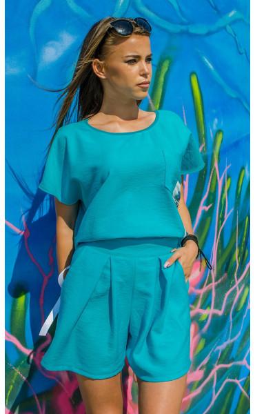 Къси панталонки Turquoise_16738
