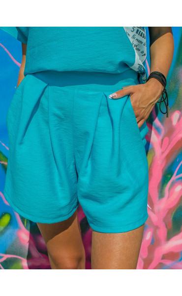 Къси панталонки Turquoise_16739