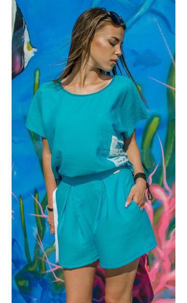 Къси панталонки Turquoise_16740