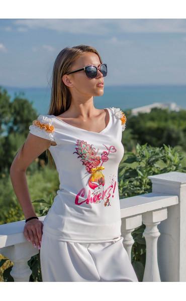 Блузка с къдри Flamingo_16751