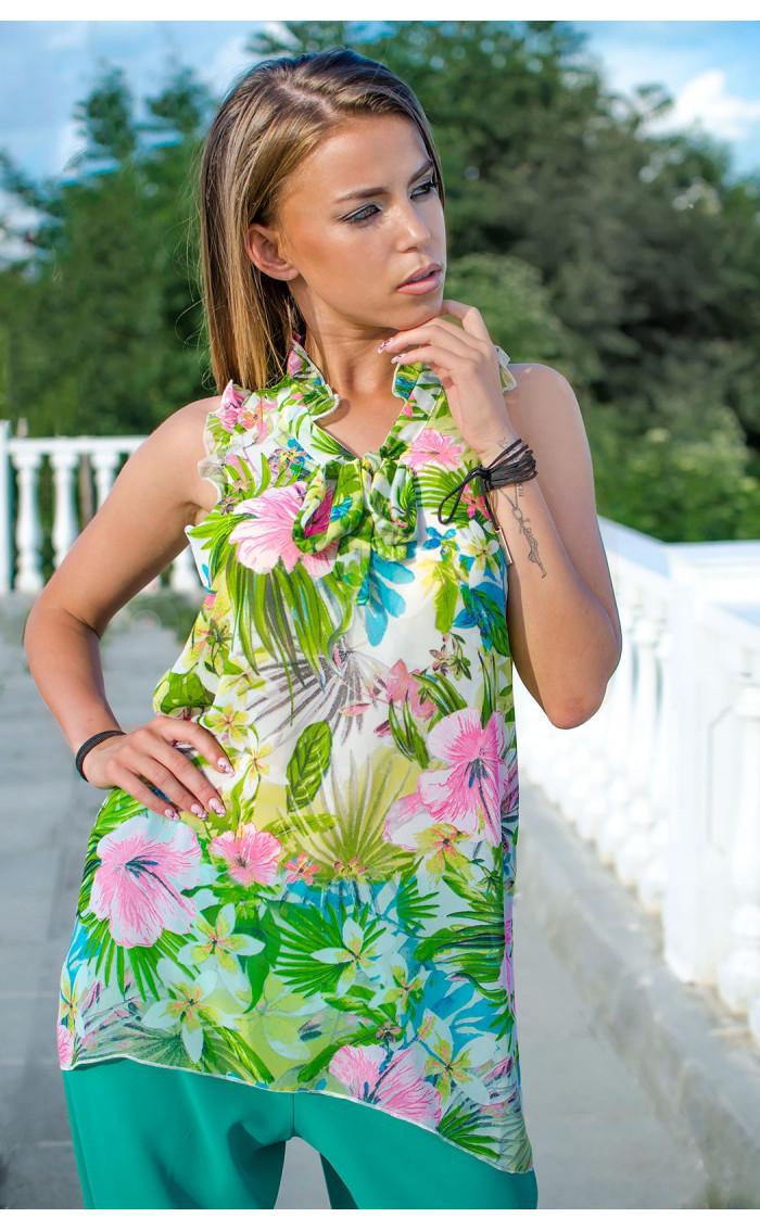 Туника Tropical flowers