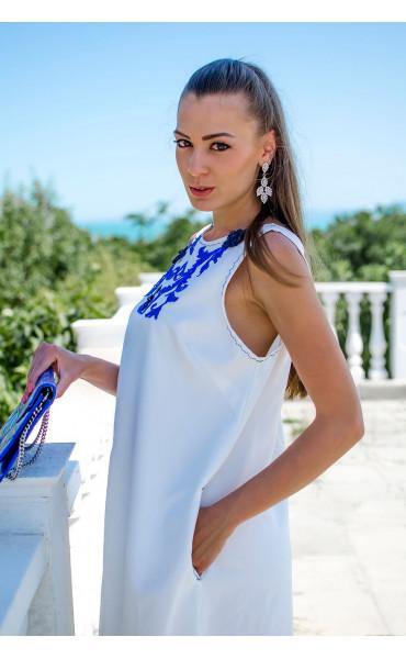Изискана бяла рокля Olimpia_16805