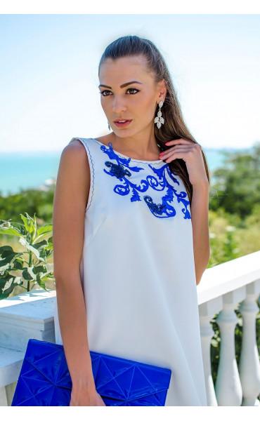Изискана бяла рокля Olimpia_16806