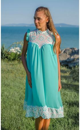 Свободна ефирна лятна рокля Mint