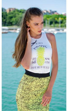 Свеж летен топ Pineapple