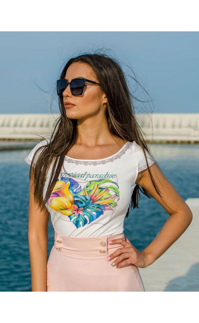 Блузка с дантела Tropical Paradise