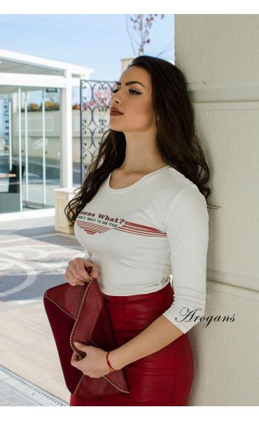 Блуза с апликация Guess what_16954