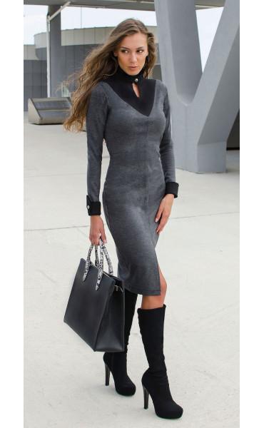 Делова елегантна рокля Prestige _17004