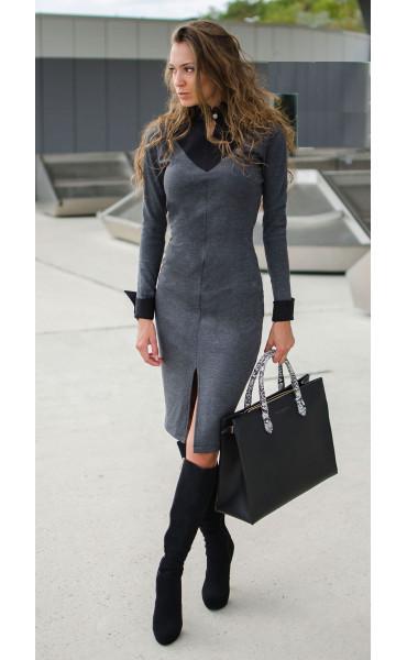 Делова елегантна рокля Prestige _17007