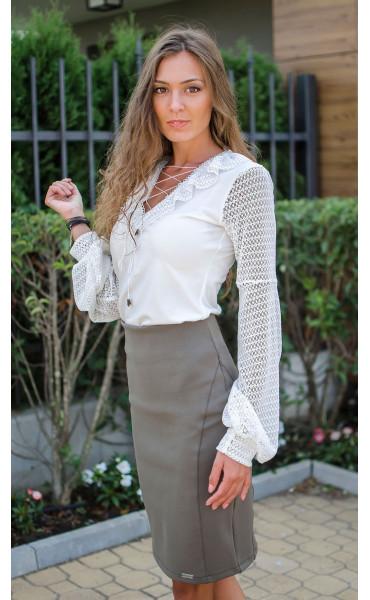 Елегантна блуза в бяло Mari_17053