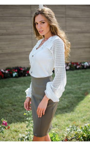 Елегантна блуза в бяло Mari_17055
