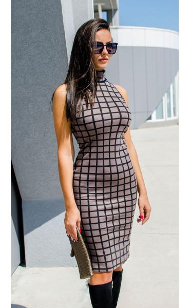 Къса асиметрична блузка от плетиво_17158