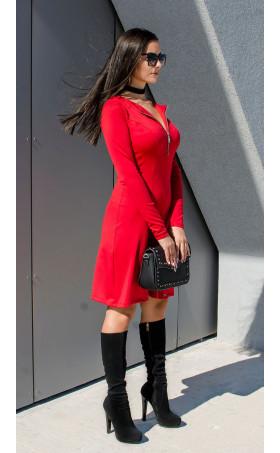 Ежедневна червена рокля Red Lips