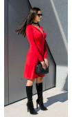 Очарователна ежедневна червена рокля Red Lips