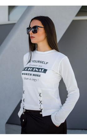 Модерна спортна блуза от плетиво Be yourself